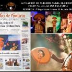 Alberto Ángel «el cuervo» cantando en el festival